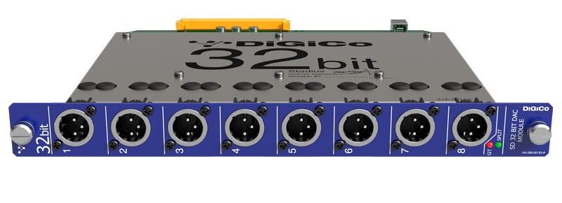 Nueva tarjeta de salida 32 bits DAC para las consolas DiGiCo