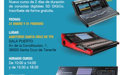 Cursos de DiGiCo en Tenerife