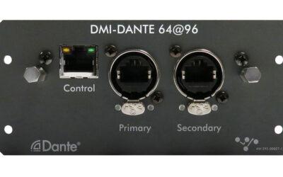 DiGiCo presentará una nueva tarjeta DMI-Dante en InfoComm 2019