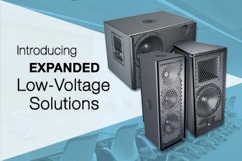 Meyer Sound amplia su linea de productos de baja tensión con tres nuevos altavoces