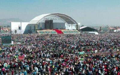 La familia Meyer Sound LEO sonoriza el evento Papal en Mexico con aforo de 300,000 personas