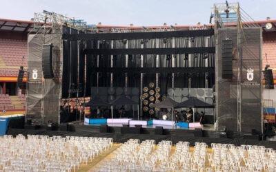 Hacker Producciones sonorizó el concierto de David Bisbal en Roquetas de Mar con sistemas LYON de Meyer Sound